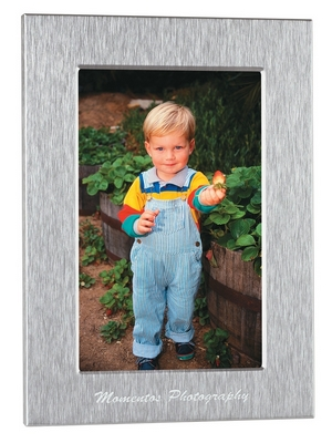 Promotional Picture Frames: Customized 5x7 Silver Photo Frame