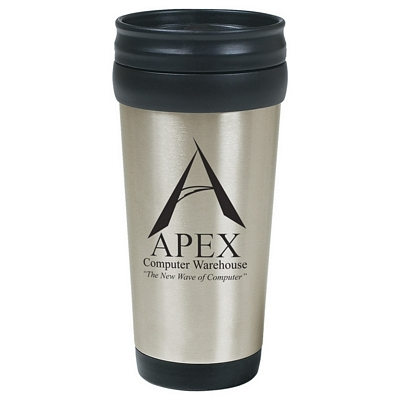 Promotional Travel Mugs: Customized 16 oz. Stainless Steel Tumbler with Slide Action Lid