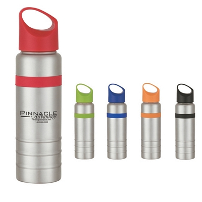 Promotional Tumblers: Customized 24 oz Stainless Steel Tumbler with Silcon Grip
