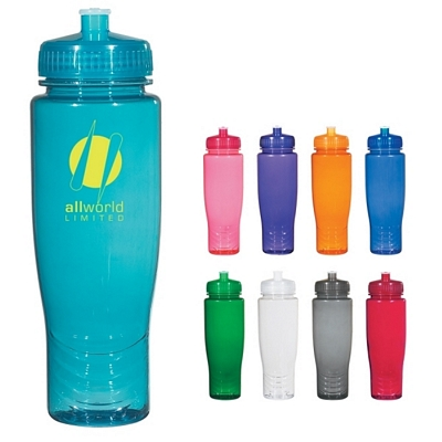 Promotional Plastic Sports Bottles: Customized Poly-clean 28 oz Plastic Bottle