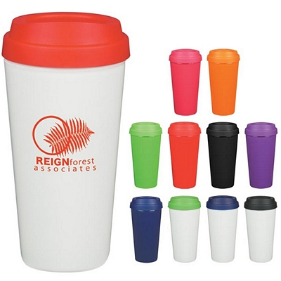 Promotional Tumblers: Customized 16 oz. Double Wall Plastic Tumbler