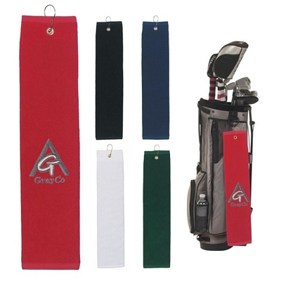 Promotional Golf Towels: Customized 100% Cotton Folded Golf Towel