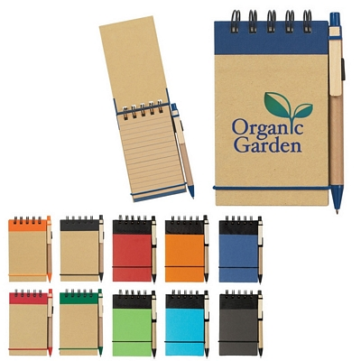 Promotional Notebooks: Customized Eco-Friendly Spiral Jotten Pad and Pen