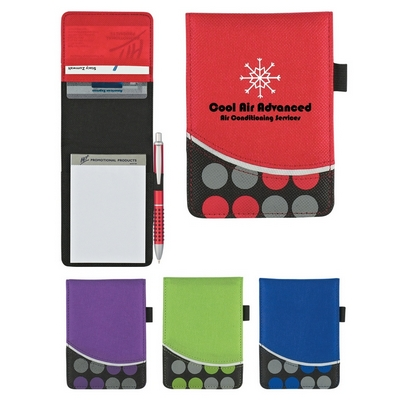 Promotional Jotter Pads: Customized NonWoven Polk-A-Dot Jotter Pad