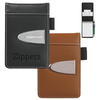 Promotional Jotter Pads: Customized Eclipse Bonded Leather Flip Open Jotter Pad