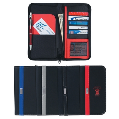Promotional Travel Wallets: Customized Contemporary Travel Wallet with Zipper
