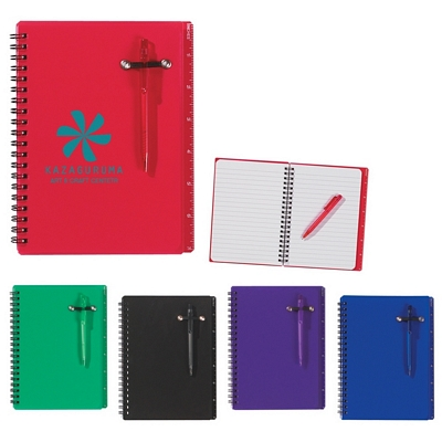 Promotional Notebooks: Customized 5 x 7 Spiral Pocket Notebook and Pen