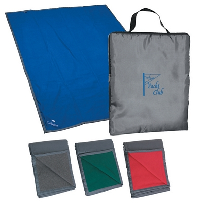 Promotional Blankets: Customized Reversible Fleece Nylon Blanket with Carry Case