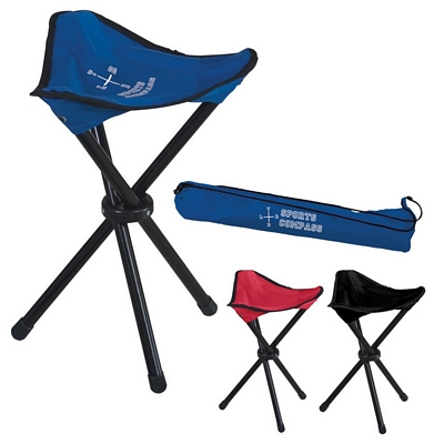 Promotional Stools: Customized Folding Tripod Stool with Carrying Bag