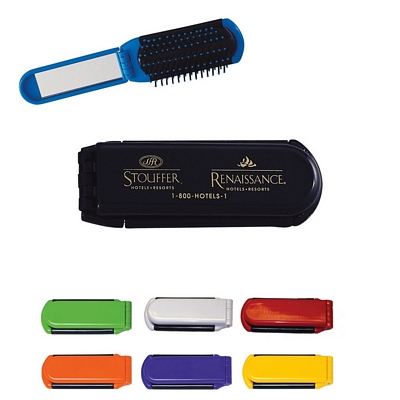 Promotional Toiletry Kits: Customized Kwik-Fix Folding Comb with Mirror