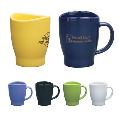 customized 14 oz wave coffee mug promotional ceramic mugs