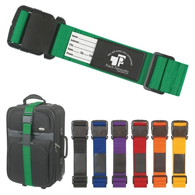 Promotional Luggage Tags: Customized Luggage Safety Strap Bag Identifier