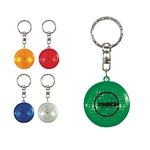 Promotional Key Chains: Customized Round Soft Touch Led Key Chain