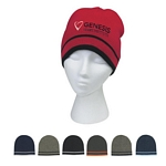 Promotional Beanie Caps: Customized Knit Beanie with Double Stripes