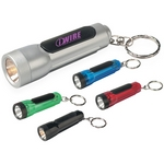 Promotional Key Chains: Customized Mini LED Torch Light with Key Ring