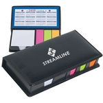 Promotional Memo Pad Holders: Customized Leather look case of Sticky Notes with Calendar