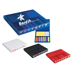 Promotional Notebooks: Customized Travel Memo Case With Sticky Flags & Note Pad