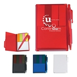 Promotional Jotter Pads: Customized Memo Notebook with Sticky Notes & Pen