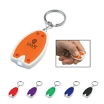 Promotional Key Chains: Customized Push Button LED Key Chain