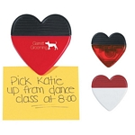 Promotional Memo Clips: Customized Heart Shape Memo Clip with Magnet
