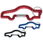 Promotional Bottle Openers: Customized Car Shape Carabiner with Key Ring