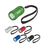 Promotional LED Flashlights: Customized Aluminum Small Stubby Led Flashlight With Strap