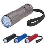 Promotional LED Flashlights: Customized The Stubby Aluminum Led Flashlight With Strap