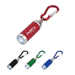 Promotional Carabiners: Customized Mini Aluminum Led Light With Matching Carabiner