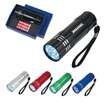 Promotional LED Flashlights: Customized Aluminum Led Flashlight With Strap