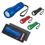 Promotional LED Flashlights: Customized Aluminum Led Torch Light With Strap