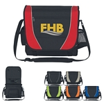 Promotional Messenger Bags: Customized Messenger Bag with Mesh Bottle Holder