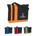 Promotional Tote Bags: Customized Screen Printed Tri-band Tote Bag