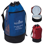 Promotional Drawstring Bags: Customized Beach Bag with Insulated Lower Compartment