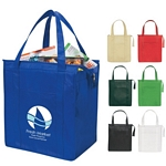 Promotional Grocery Shopping Bags: Customized Non-Woven Insulated Shopper Tote Bag