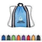 Promotional Drawstring Bags: Customized Small Reflective Hit Sports Drawstring Backpack