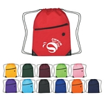 Promotional Drawstring Bags: Customized Fun Style Drawstring Backpack with Zipper