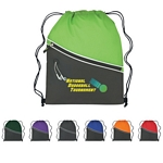 Promotional Drawstring Bags: Customized Fun Style Two-Tone Sports Drawstring Pack