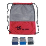 Promotional Drawstring Bags: Customized Mesh Sports Drawstring Backpack