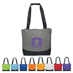 Promotional Tote Bags: Customized Curve Two-Tone Tote Bag