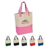Promotional Tote Bags: Customized Heavy Cotton Canvas Two-Tone Tote