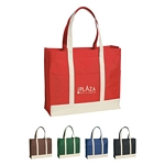 Promotional Tote Bags: Customized Two-Tone Inverted 12 oz Canvas Tote Bag