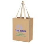 Promotional Shopping Tote Bags: Customized Small Craft Paper Laminated Polypropylene Shopper Tote Bag