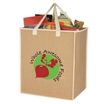 Promotional Shopping Tote Bags: Customized Large Craft Paper Laminated Polypropylene Shopper Tote Bag