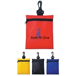 Promotional Pouches: Customized Non-Woven Zippered Clip on Travel Pouch
