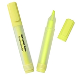 Promotional Highlighters: Customized Rectangular Highlighter with Frosted Barrel & Yellow Chisel Tip