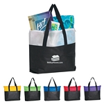 Promotional Tote Bags: Customized Non-Woven Zippered Two-Tone Tote Bag