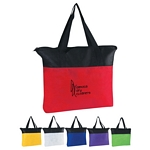 Promotional Tote Bags: Customized Non-Woven Zippered Shop Tote Bag