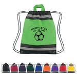 Promotional Drawstring Bags: Customized Small Non-Woven Reflective Sports Drawstring Backpack