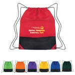 Promotional Drawstring Bags: Customized Non-Woven Two-Tone Drawstring Sports Pack
