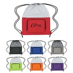 Promotional Drawstring Bags: Customized Fun Style Mesh Sports Pack with Pocket